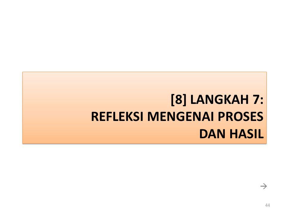 [8] Langkah 7: REFLEKSI MENGENAI PROSES DAN HASIL